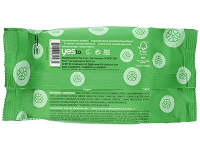 Yes To Cucumber Soothing Hypoallergenic Facial Wipes, 30 Count (Pack of 2) - Image 3