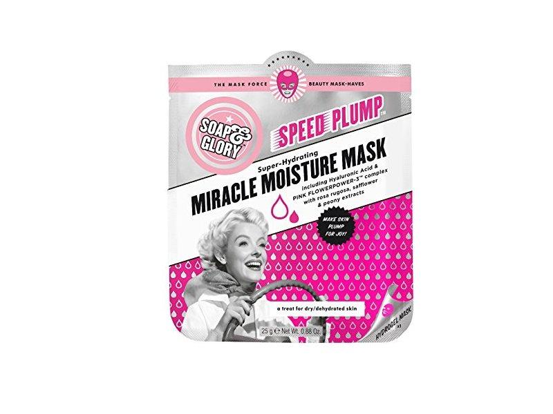 Soap & Glory Speed Plump Miracle Moisture Mask, 0.88 oz/25 g