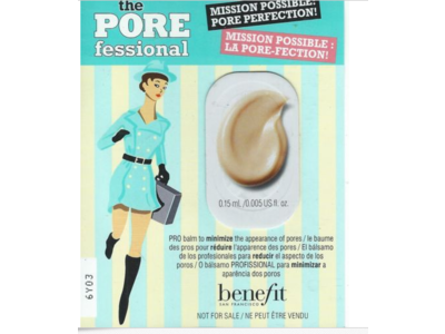 Benefit Cosmetics The Pore-fessional Benefit Sample Card