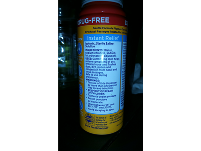 Arm & Hammer Simply Saline Nasal Mist, Instant Relief, 3.0 fl oz - Image 4