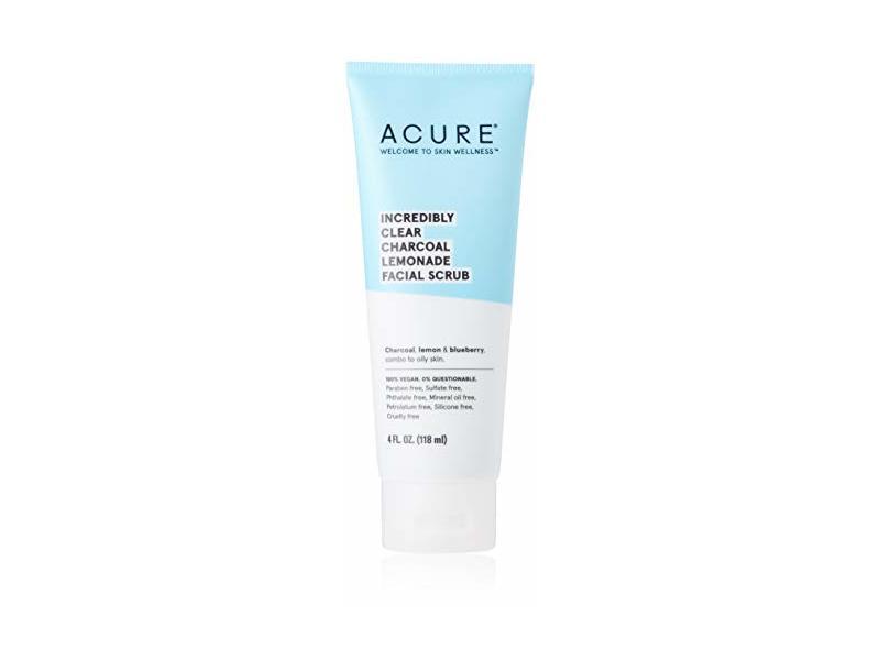 Acure Incredibly Clear Charcoal Lemonade Facial Scrub, 4 fl oz / 118 ml