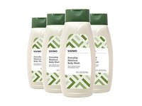 Amazon Brand - Solimo Everyday Moisture Body Wash with Colloidal Oatmeal, 18 Fluid Ounce (Pack of 4) - Image 2