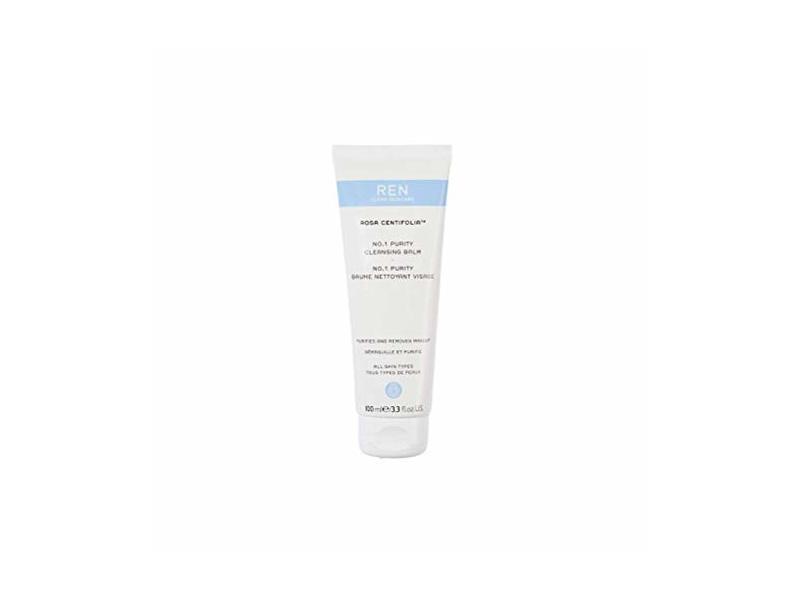 REN Clean Skincare Rosa Centifolia No. 1 Purity Cleansing Balm, 3.3 Fl Oz