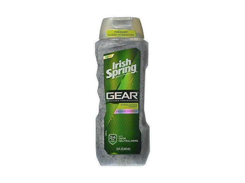 Irish Spring Gear Exfoliating Body Wash, 15 Ounce