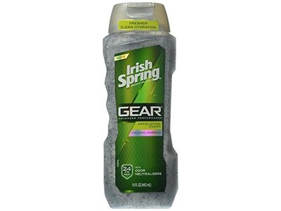 Irish Spring Gear Exfoliating Body Wash, 15 Ounce