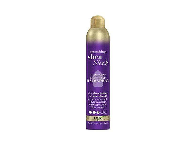 Ogx Shea Sleek Humidity Blocking Hairspray, 8 Ounce