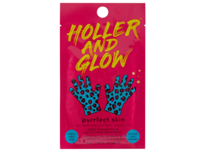 Holler And Glow Purrfect Skin Hand Glove Mask, 20 mL