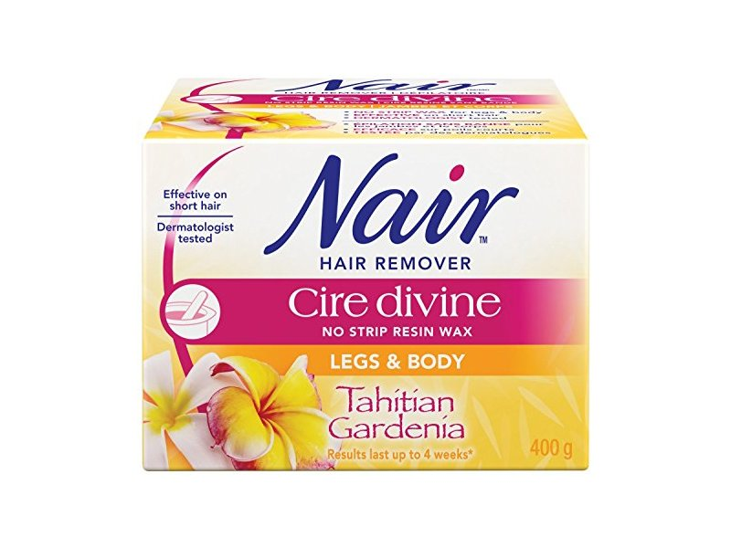 Nair Hair Remover Cire Divine No Strip Resin Wax Kit (Tahitian Gardenia, 400g/14oz)