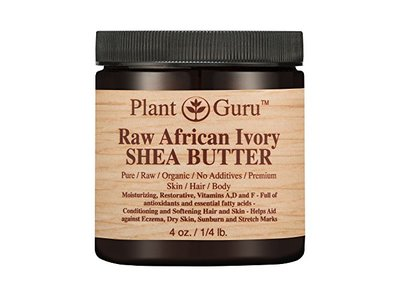 African Shea Butter Raw Unrefined 100% Pure Natural Organic Ivory Grade A - 4 oz