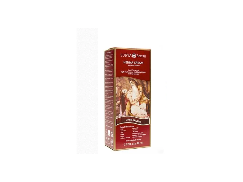 Surya Brasil Henna Cream Dark Brown, 2.37 oz
