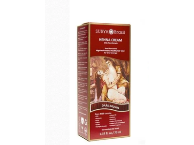 Surya Brasil Henna Cream Dark Brown, 2.37 oz