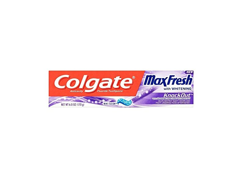 Colgate MaxFresh with Whitening KnockOut Mint Fusion Toothpaste, 6 oz