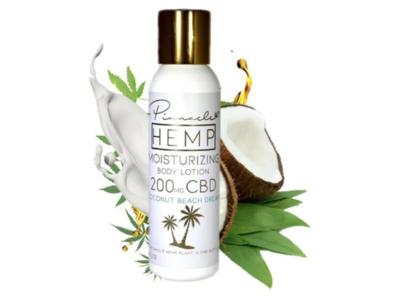 Pinnacle Hemp Moisturizing Body Lotion, Coconut Beach Dream, 4 oz