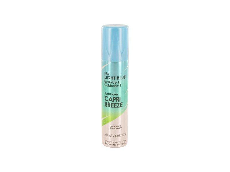 Designer Imposters Light Blue Fragrance Body Spray, 2.5 oz