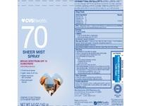 CVS Health 70 Sheer Mist Spray Sunscreen - Image 2