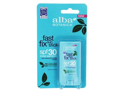 Alba Botanica Fast Fix Sun Stick Broad Spectrum, SPF 30, 0.5 oz - Image 1