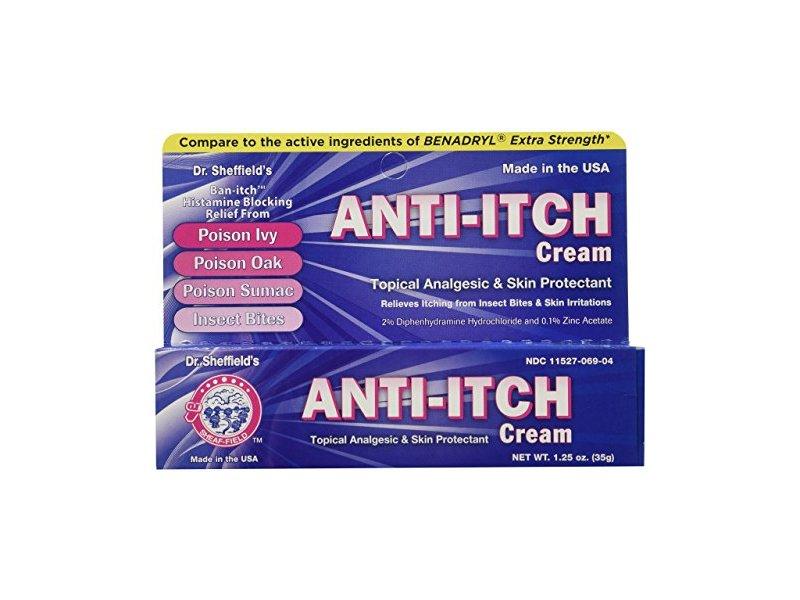 Dr. Sheffield Anti-Itch Cream with Histamine Blocker, 1.25 oz
