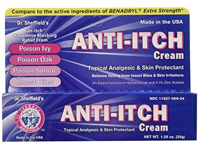 Dr. Sheffield Anti-Itch Cream with Histamine Blocker, 1.25 oz - Image 1