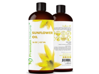 Premium Nature Sunflower Seed Oil, 16 oz / 453 ml - Image 2