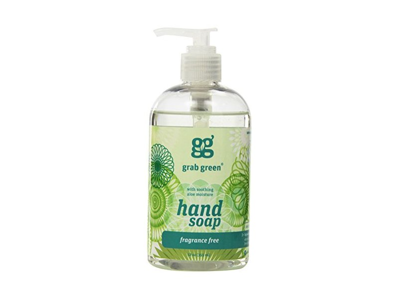 Grab Green Liquid Hand Soap, Fragrance Free, 12 fl oz