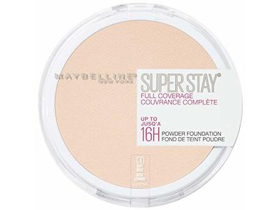 Maybelline New York Super Stay Full Coverage Powder Foundation Makeup Matte Finish, Buff Beige, 0.18 Ounce