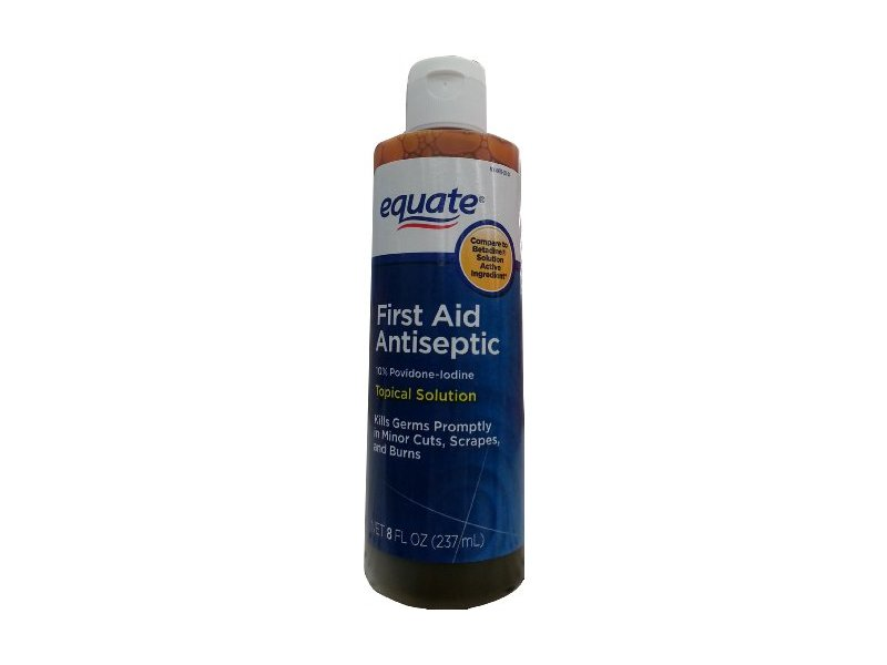 Equate First Aid Antiseptic Topical Solution 8oz