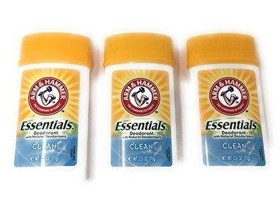 ARM & HAMMER Essentials Solid Deodorant, Clean, Wide Stick, 2.5 oz.