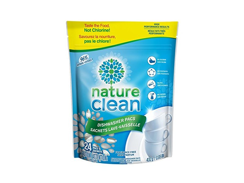 Nature Clean Automatic Dishwasher Pacs, Unscented, 24 count.