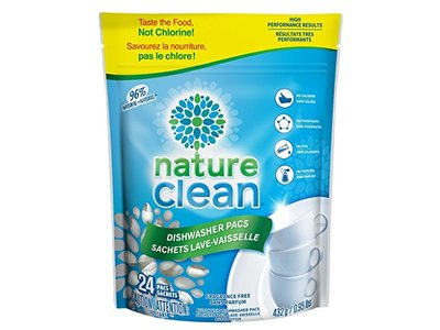 Nature Clean Automatic Dishwasher Pacs, Unscented, 24 count. - Image 1