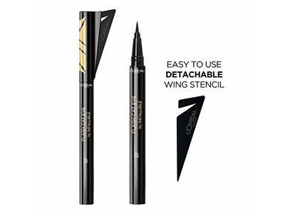 L'Oreal Paris Makeup Flash Cat Eye by Infallible, Waterproof Liquid Eyeliner, Black, 0.02 fl. oz.