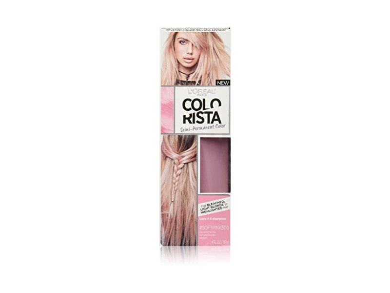 L'Oreal Paris Colorista Semi-Permanent for Light Blonde or Bleached Hair, #SoftPink