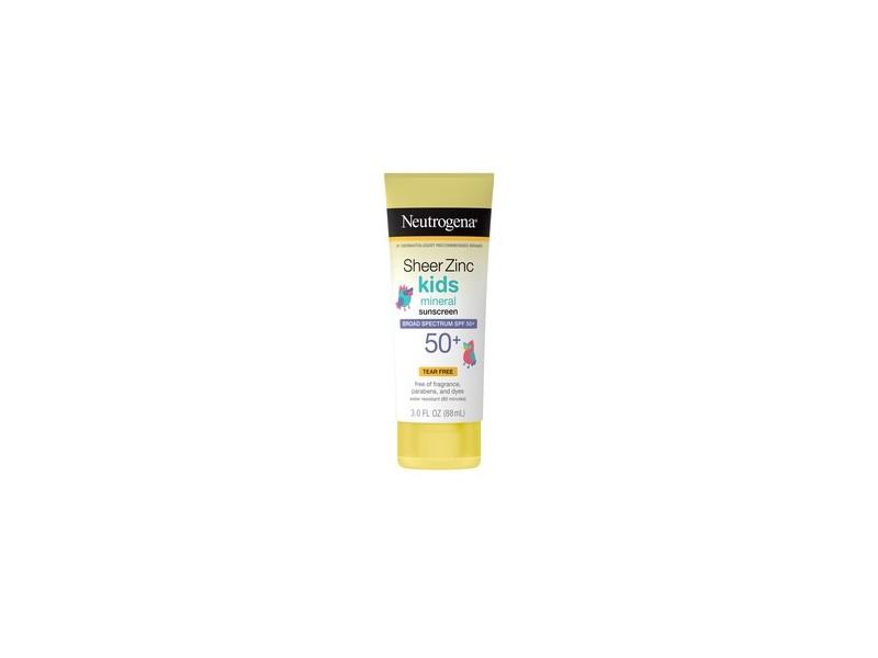 Neutrogena Sheer Zinc Kids Mineral Sunscreen Lotion SPF 50+