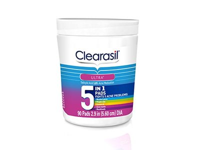 Clearasil Ultra 5 in 1 Facial Cleansing Pads, 90 Count