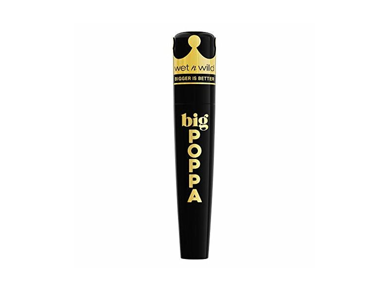 Wet N Wild Big Poppa Mascara, Blackest Black, 0.33 fl oz/10 mL