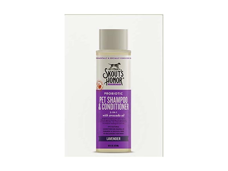 Skouts Honor Probiotic Pet Shampoo & Conditioner (2-in-1) Lavender, 16oz