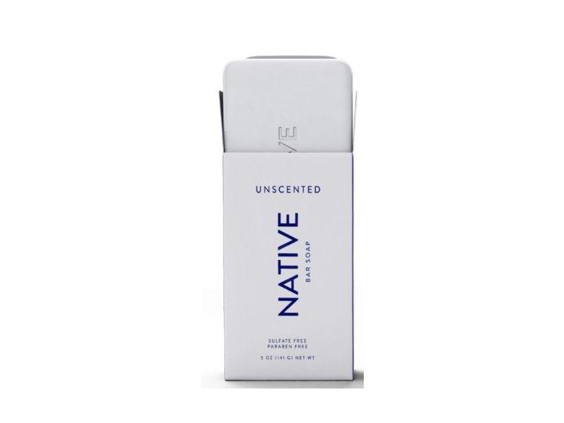 Native Bar Soap, Unscented, 5 oz