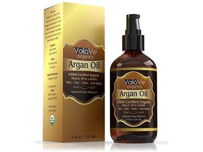 VoilaVe Organics Argan Oil, USDA Certified Organic, 4 fl oz - Image 1