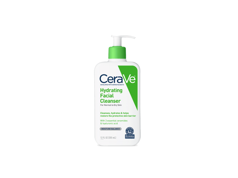 CeraVe Hydrating Facial Cleanser, Normal to Dry Skin, 24 fl oz (710 mL)