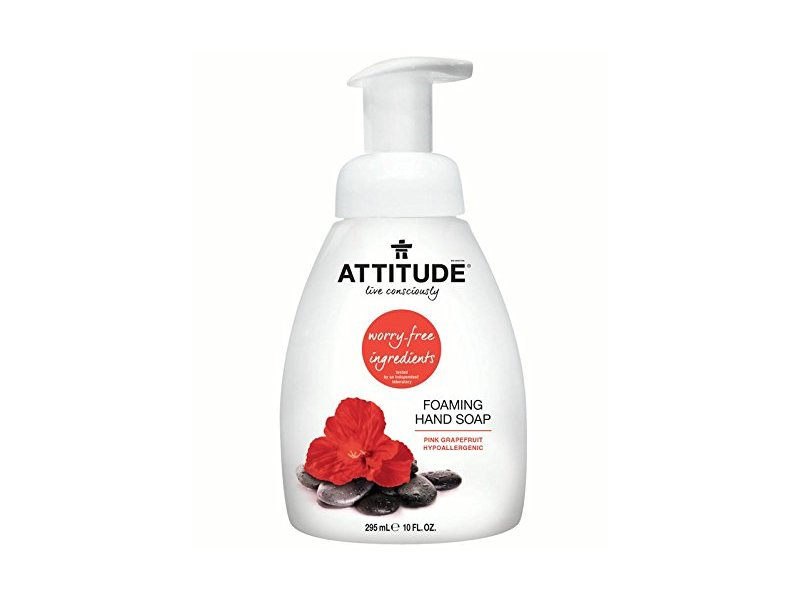Attitude Foaming Hand Soap, Pink Grapefruit, 10 fl oz