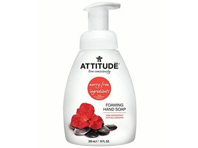 Attitude Foaming Hand Soap, Pink Grapefruit, 10 fl oz - Image 1