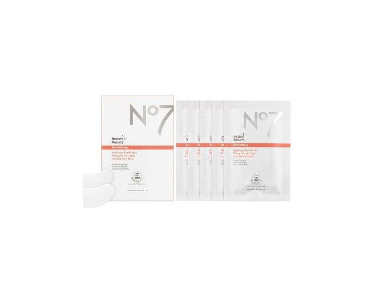 No7 Instant Results Revitalising Hydrogel Eye Masks, 5x 0.1 oz