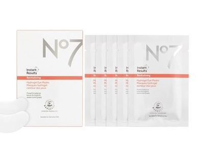 No7 Instant Results Revitalising Hydrogel Eye Masks, 5x 0.1 oz