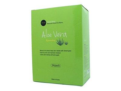 Celavi Essence Facial Mask Paper Sheet Korea Skin Care Moisturizing, Aloe Vera, 24 Pack
