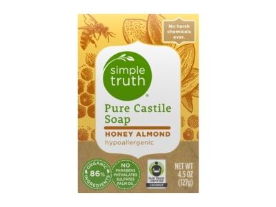 Simple Truth Honey Almond Pure Castile Soap, 4.5 oz