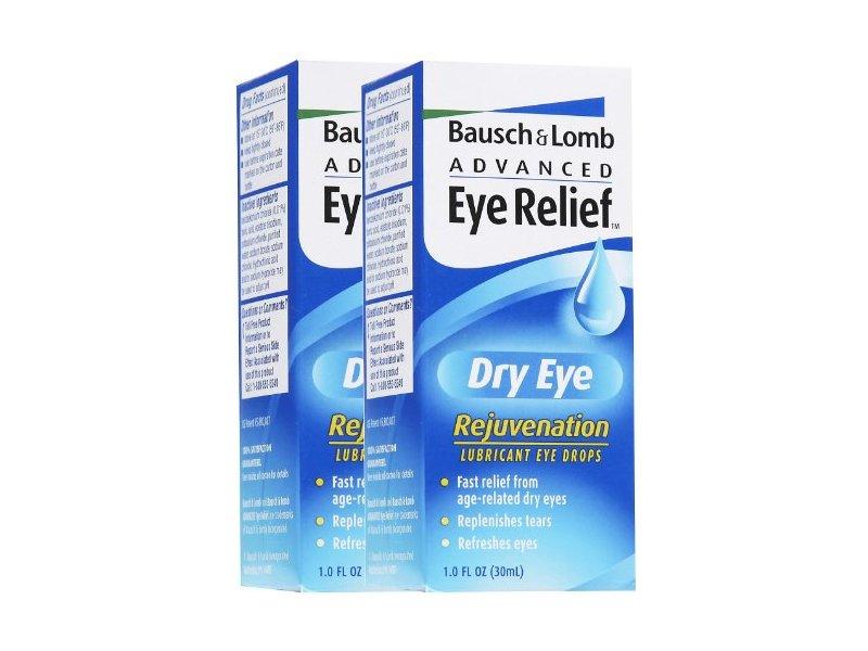Bausch & Lomb Advanced Eye Relief Dry Eye Rejuvenation Lubricant Eye Drops, 1 oz (pack of 2)