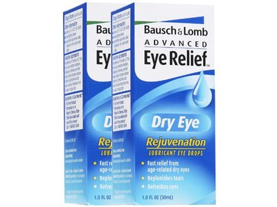 Bausch & Lomb Advanced Eye Relief Dry Eye Rejuvenation Lubricant Eye Drops, 1 oz (pack of 2)