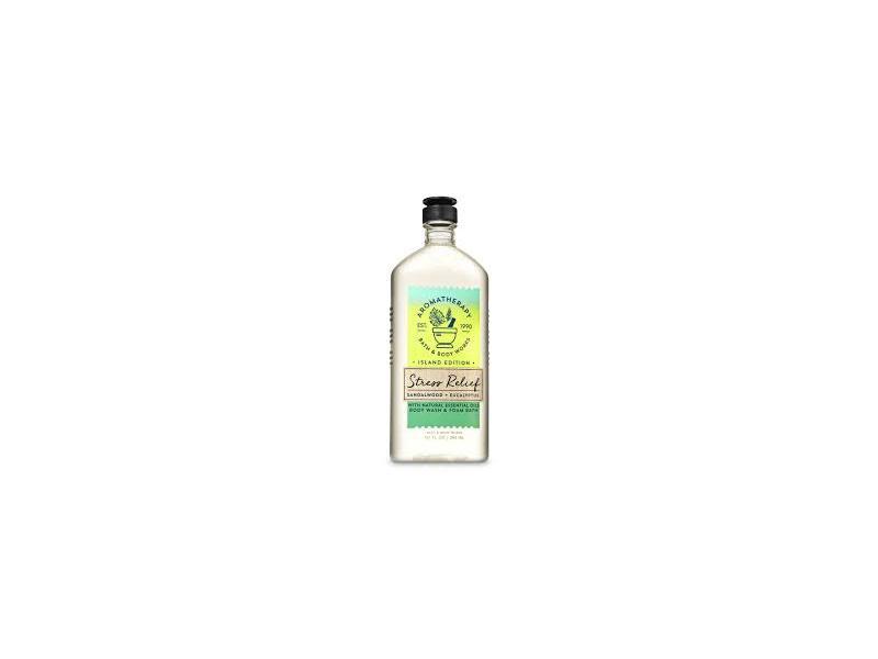 Bath & Body Works Aromatherapy Body Wash & Foam Bath, Stress Relief Sandalwood & Eucalyptus