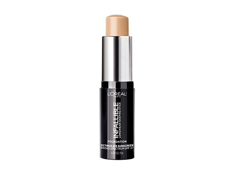 L'Oreal Paris Makeup Infallible Longwear Foundation Shaping Stick, 404 Shell Beige, 0.3 oz.