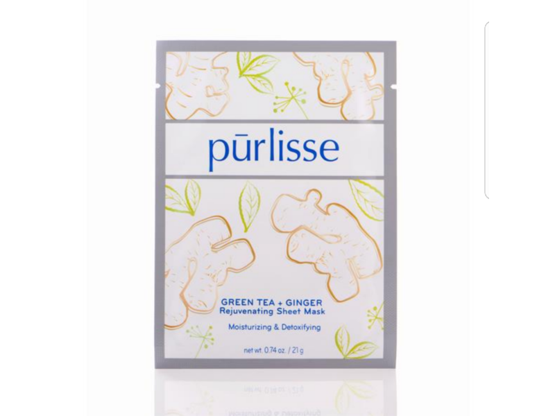 Purlisse Green Tea + Ginger Rejuvenating Mask, 0.74 oz