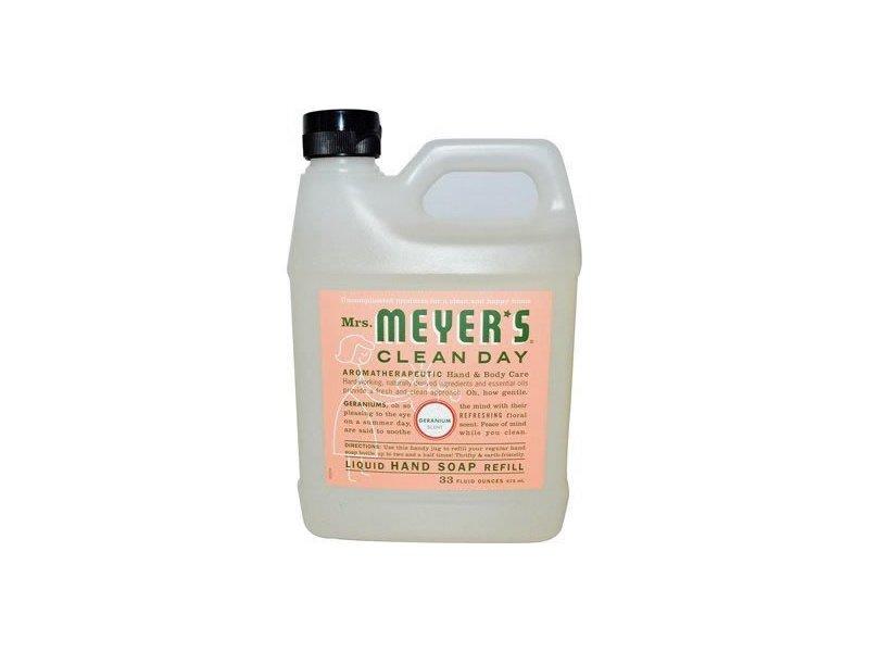 Mrs. Meyer'S Hand Soap Liquid Refill, Geranium, 33 fl oz